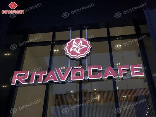 làm bảng hiệu quận thủ đức tp thủ đức - bảng hiệu dự án ritavo cafe
