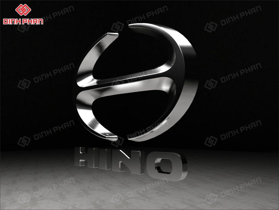 logo hút nổi mạ crom