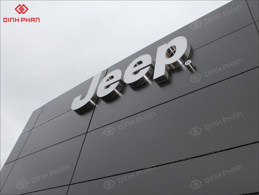 thi công bảng hiệu showroom oto - showroom jeep