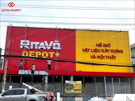 làm bảng hiệu quận thủ đức tp thủ đức - bảng hiệu dự án ritavo depot