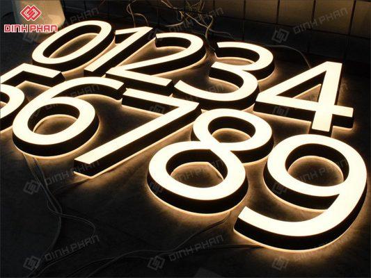 biển số nhà - biển số phòng - chữ nổi đẹp