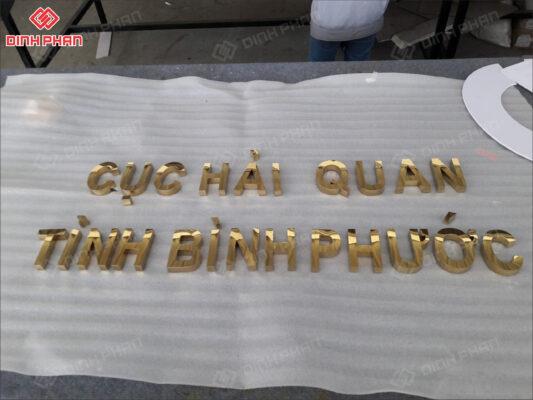 chữ inox - chữ inox vàng