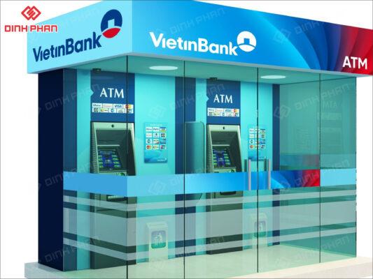 hộp đèn bạt không gân in uv - viettinbank