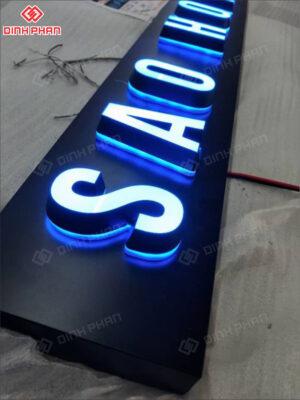 làm chữ nổi - chữ mica nguyên khối sáng đèn