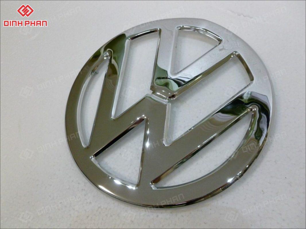 logo mạ crom không xuyên đèn