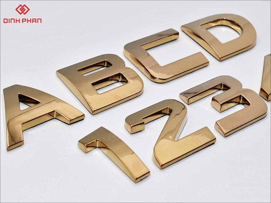 logo mạ crom vàng