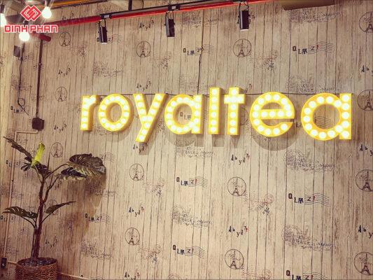 bảng hiệu trà sữa -royaltea