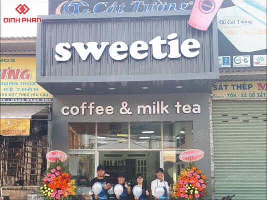 bảng hiệu trà sữa